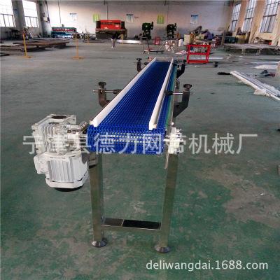 网带网链式输送机 爬坡网带提升输送机塑料网带流水线非标定制