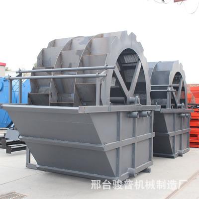 洗沙机大型生产线三槽水轮河沙泥浆分离器轮斗双螺旋洗石洗砂机