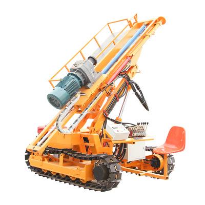 斜坡锚索支护履带式岩石电钻大功率工程专用螺旋钻孔加固凿岩机
