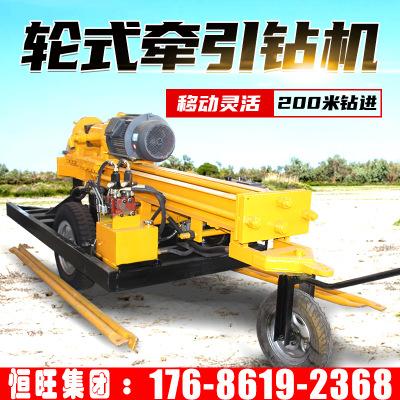 轮式气动水井钻机 移动方便钻井机 电动打井机