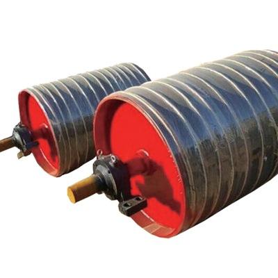 矿用皮带机输送带用滚筒生产加工现货供应 传送带包胶传动滚筒
